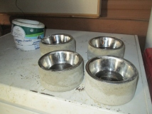 Here are the bowls after 24 hours curing